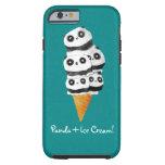 Cono de helado dulce del oso de panda funda de iPhone 6 tough