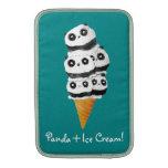 Cono de helado dulce del oso de panda fundas para macbook air