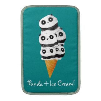 Cono de helado dulce del oso de panda fundas macbook air