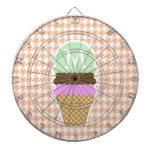 Cono de helado en el color Houndstooth del albaric Tabla Dardos
