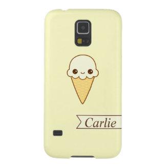 Cono de helado feliz de vainilla de Kawaii Funda Galaxy S5