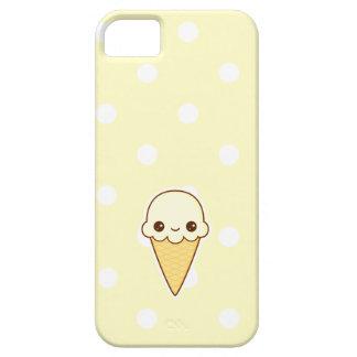 Cono de helado feliz de vainilla de Kawaii iPhone 5 Fundas