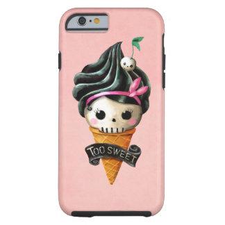 Cono de helado femenino del cráneo funda de iPhone 6 tough