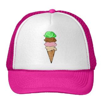 Cono de helado gorro de camionero