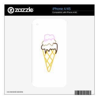 Cono de helado iPhone 4 calcomanías