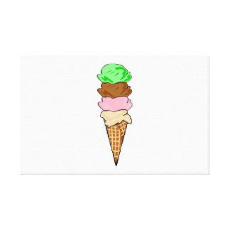 Cono de helado lona estirada galerías