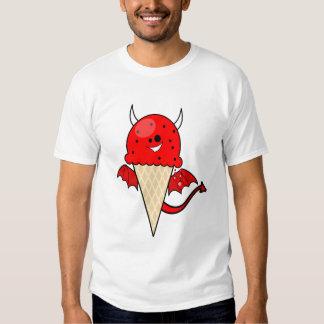 cono de helado lindo del diablo del kawaii con las camisas