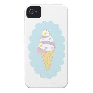 Cono de helado lindo del remolino Case-Mate iPhone 4 cobertura