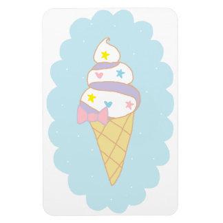 Cono de helado lindo del remolino imán de vinilo
