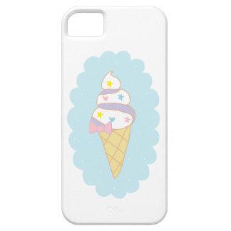 Cono de helado lindo del remolino iPhone 5 carcasa