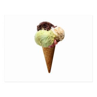 Cono de helado postal