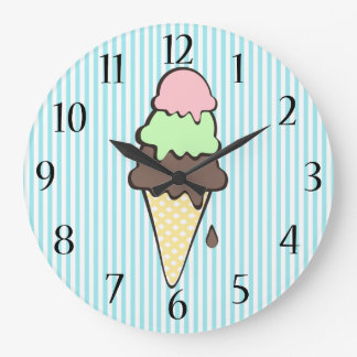 Cono de helado reloj