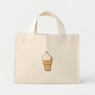 cono de helado retro bolsa tela pequeña