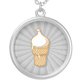 cono de helado retro colgante redondo