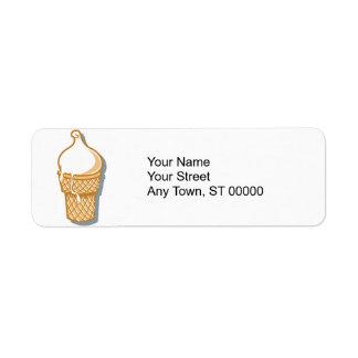 cono de helado retro etiquetas de remite