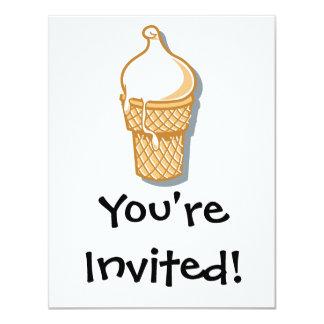 """cono de helado retro invitación 4.25"""" x 5.5"""""""