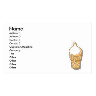 cono de helado retro tarjetas de visita