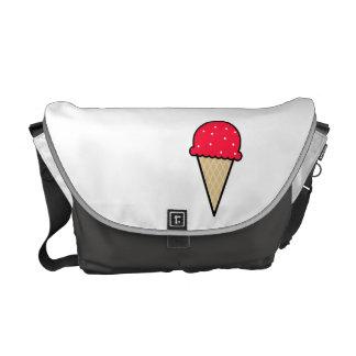 Cono de helado rojo del escarlata bolsas de mensajeria