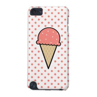 Cono de helado rosado coralino
