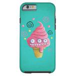 Cono de helado rosado del monstruo funda de iPhone 6 shell