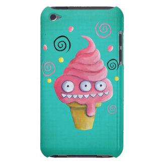 Cono de helado rosado del monstruo barely there iPod protectores