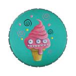 Cono de helado rosado del monstruo jarrones de dulces