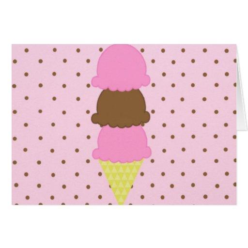 Cono de helado tarjeta pequeña