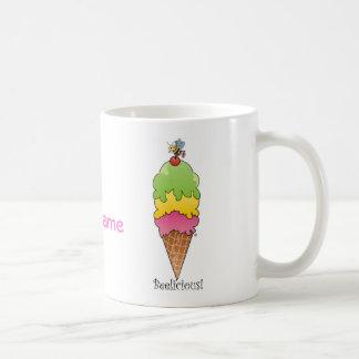 Cono de helado tazas de café