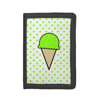Cono de helado verde chartreuse, de neón
