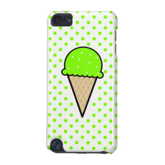Cono de helado verde chartreuse de neón