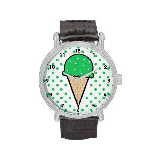 Cono de helado verde de Kelly Reloj