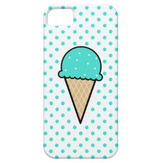 Cono de helado verde de la turquesa iPhone 5 Case-Mate protectores
