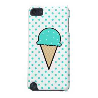 Cono de helado verde de la turquesa