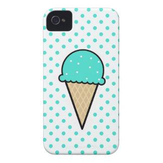 Cono de helado verde de la turquesa iPhone 4 Case-Mate coberturas