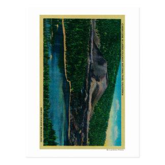 Cono de la escoria en el parque nacional volcánico postal