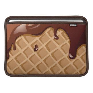 Cono de la galleta de la pasta dura de chocolate funda macbook air