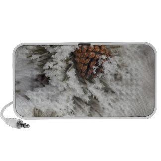 Cono del pino de Lodgepole en invierno en Yellowst Notebook Altavoces