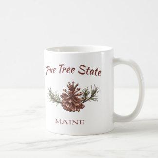 Cono del pino de Maine Taza