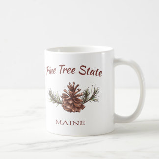 Cono del pino de Maine Taza Clásica