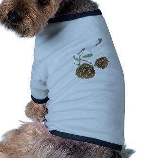 Cono del pino del invierno camisa de perrito