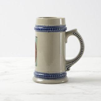 Cono del pino - imagen pintada extracto del polen jarra de cerveza