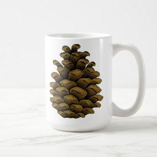 Cono del pino taza