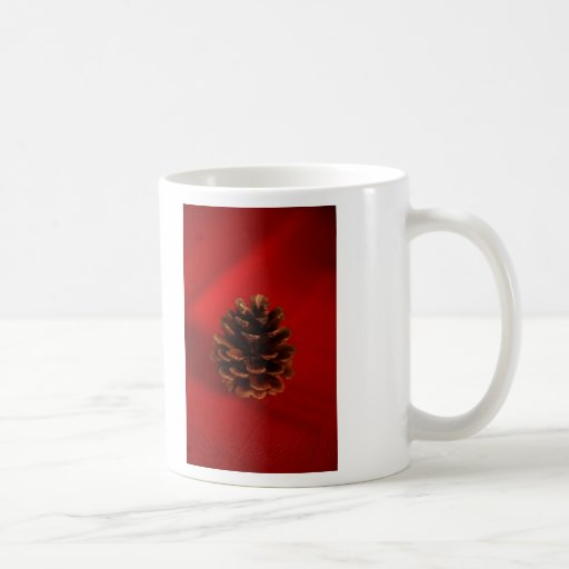 Cono del pino taza clásica