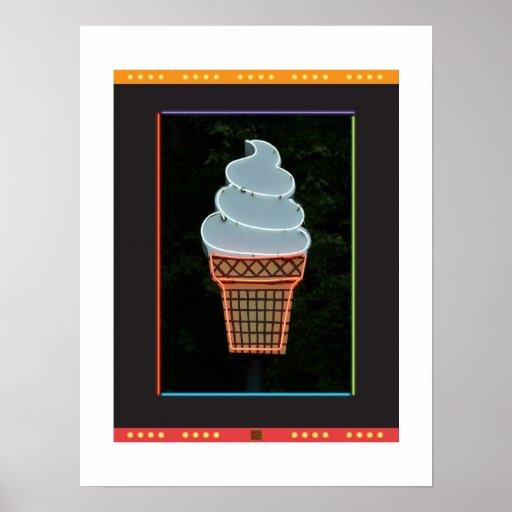 Cono-Impresión del helado Impresiones