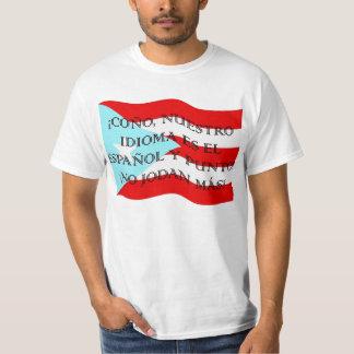 ¡Coño, nuestro idioma es el español y punto! T-Shirt