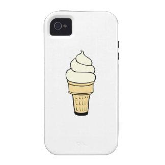 Cono poner crema de Vanilla Ice iPhone 4 Carcasa