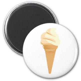 Cono poner crema de Vanilla Ice Imán Redondo 5 Cm