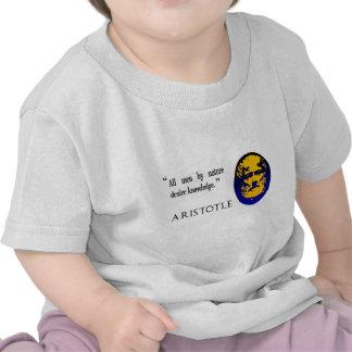Conocimiento de Aristóteles Camisetas
