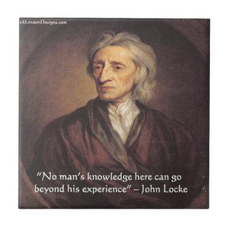 Conocimiento de John Locke/cita de la experiencia Azulejos