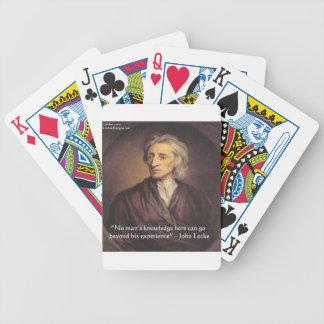 Conocimiento de John Locke/cita de la experiencia Baraja Cartas De Poker